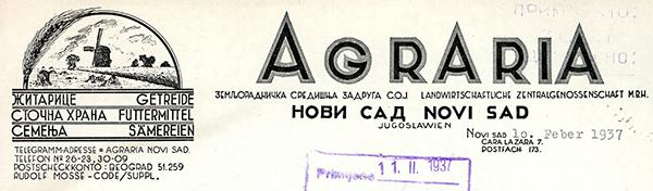 Agraria-zadruga,-Novi-Sad-1937