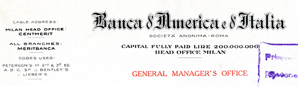 Banca-and-America-and-Italia,-1937