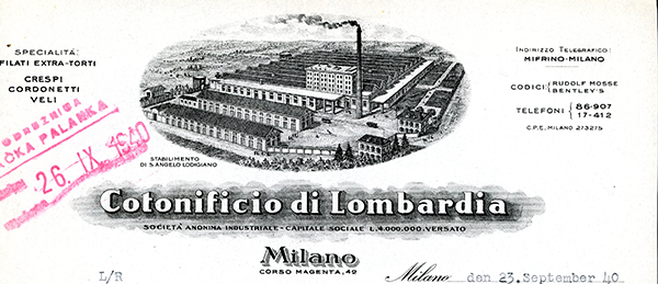 Cotonificio-di-Lombardija,-Milano-1940