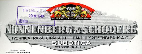 Nonnenberg-und-Schodere,-Subotica-1940