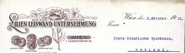 Silien-Leinwand,-Wien-1931